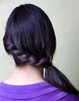 中分发型刘海往后扎怎么弄 刘海扎起来发型图片