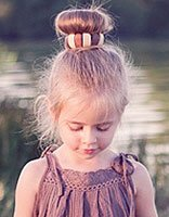 小孩简单无刘海发型 六七岁女孩的无刘海发式