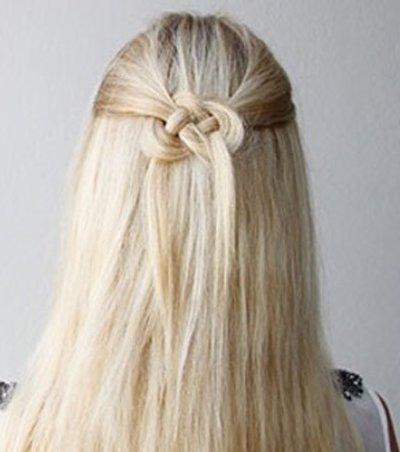 编头发的步骤及图片 小孩简单编头发