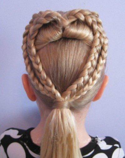 女童长发扎发发型图片 儿童编辫子发型扎法