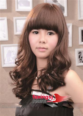 齐刘海淑女梨花头发型图片图片