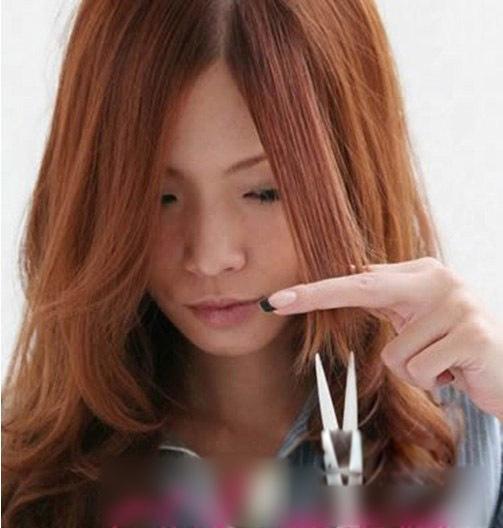 一个人也能剪刘海 轻盈刘海剪发教程图片
