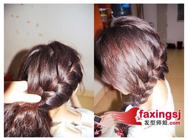 >> 惊喜侧编蝎子辫发型 给你最乖巧小女生编发模样  第三步:将头发图片