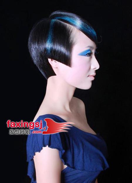 个性非主流波波头短发设计 时尚女生的演绎(3)_发型图片