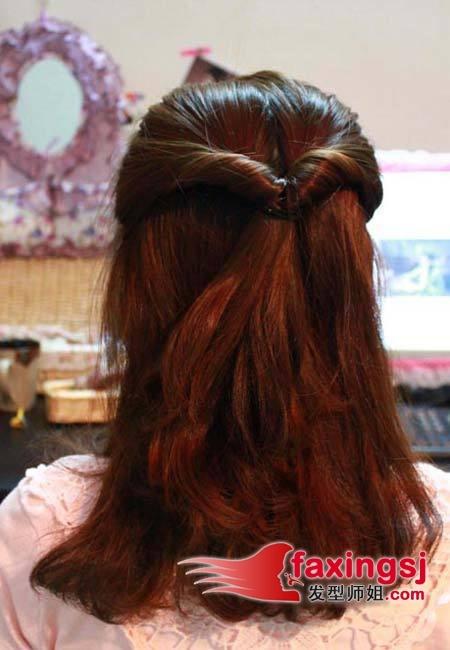 发型diy >> 三分钟搞定短发扎发 优雅气质扎发diy(2)  2013-01-17来源
