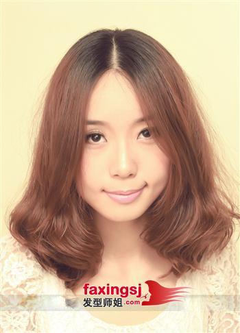 中分内卷梨花头-中短发梨花头时尚设计 发型师姐图片