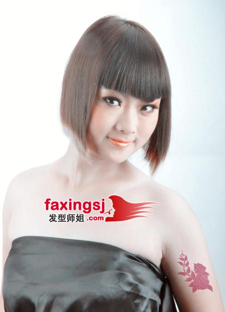胖脸发型设计视频_胖女孩也有春天 修颜波波头推荐(2)_发型师姐