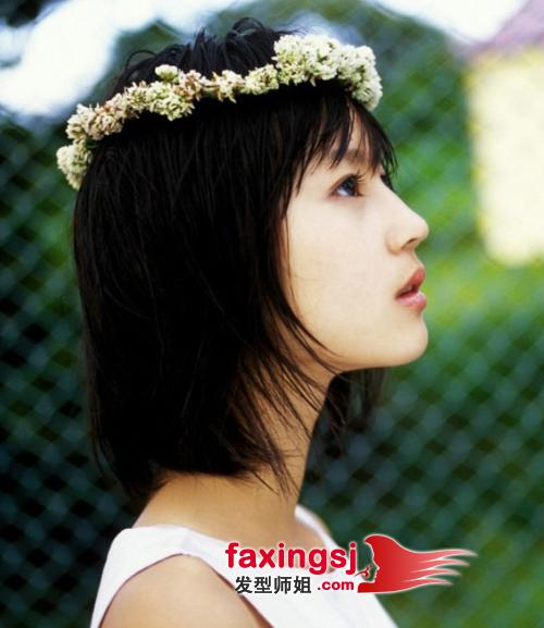 <b>日韩小脸女生短发发型设计 清新风短发演绎</b>