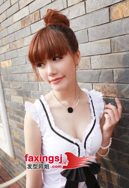 青春活力韩式包包头发型
