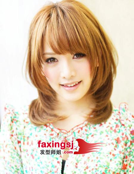 斜刘海短发梨花头-优雅知性的韩式短发设计 发型师姐