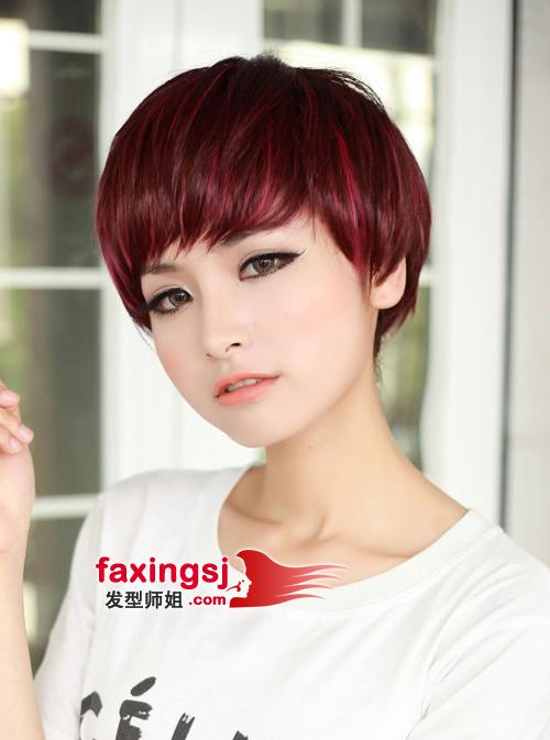 2013-04-06来源:发型师姐编辑:lili 分享到  假发的染发波波头样式图片