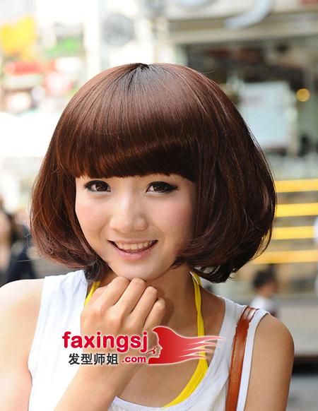 哪些梨花头样式适合学生 学生梨花头发型图片[流行发型]-好看的女学生