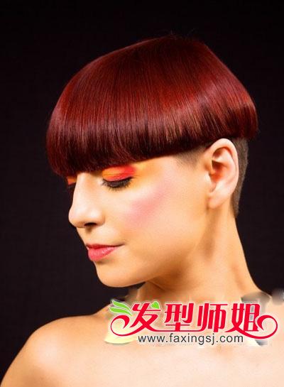 2013女生流行短发_时尚女生最新蘑菇头短发发型设计_发型师姐