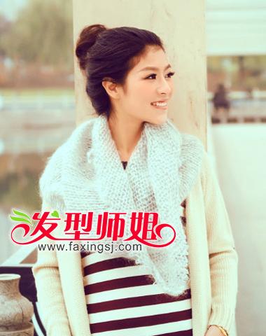 无刘海高洁丸子头-什么冬季发型简单又时尚