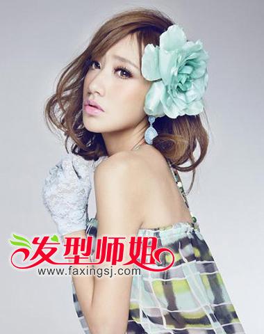 可爱甜美的中短发卷发(3)