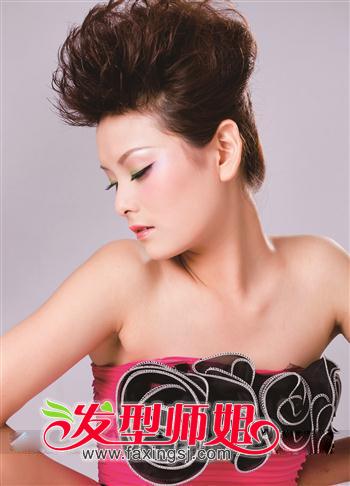 发根定位烫女生发型设计(2)图片