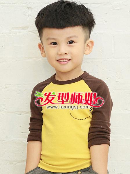 可爱小男孩锅盖头短发造型设计(3)