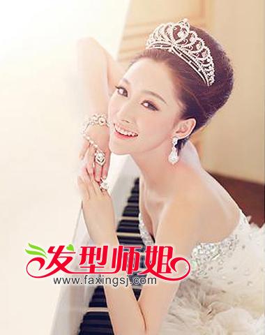 2013最新新娘盘发精美设计图片