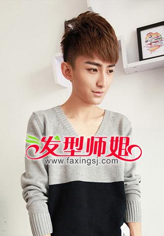 男生斜刘海长发发型适合什么样的染发颜色_发
