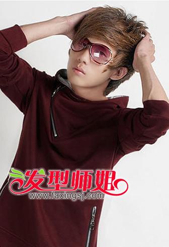 戴眼镜的男生怎么设计斜刘海(2)