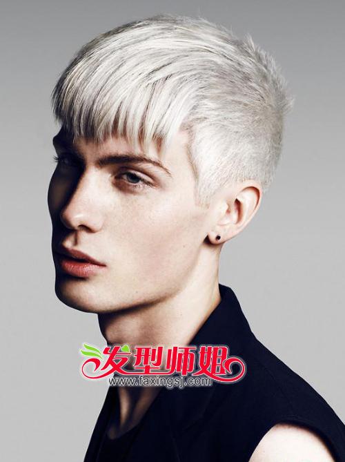 秀气男生欧美发型图片