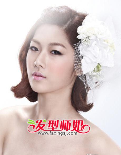 短发新娘俏丽依旧 时尚新娘短发设计(2)_发型师姐图片