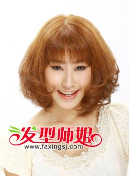 与直刘海搭配的短发发型 女生直刘海短发发型(4)