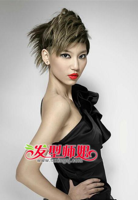 时尚靓丽的短发染发发型 短发适合的脸型盘点(4)图片