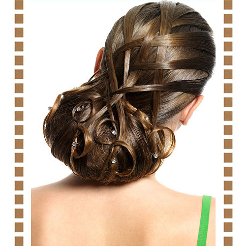 发型含苞待放 精美花苞头发型展露风采