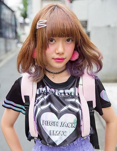 日系原宿风齐刘海 可爱修颜的街头时尚