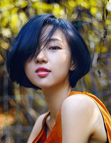 经典蓝色系染发发型 打造时尚冷都女