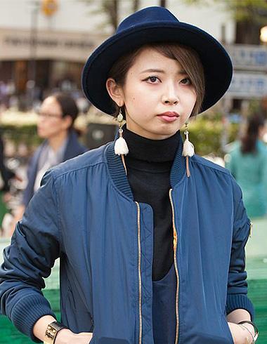 日系冬季发型与帽子 中折帽百搭发型