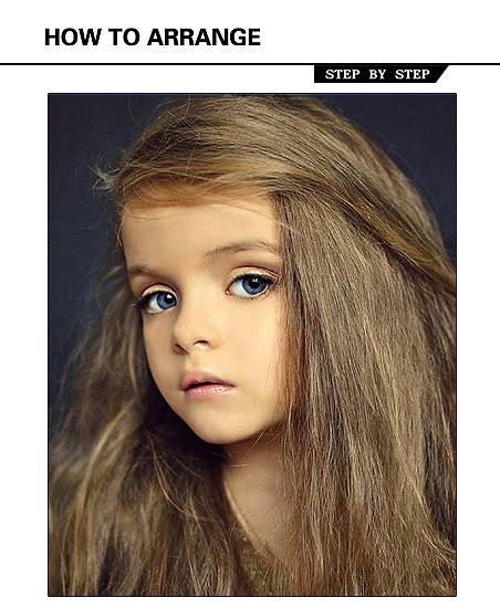 小洋妞儿媲美赛 最美女儿童卷发发型图片