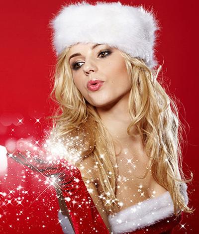 俏丽美妞喜迎圣诞 2015圣诞发型大揭秘