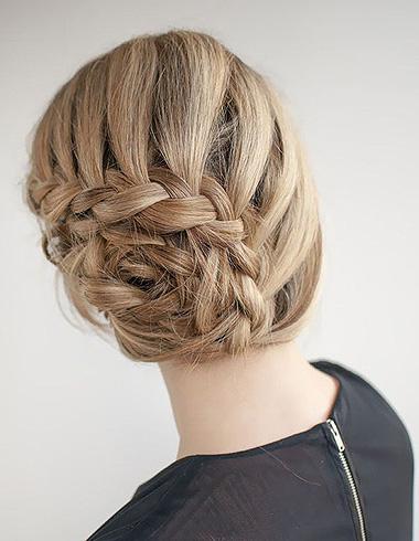 欧美时尚扎发发型 优雅显灵动唯美气质