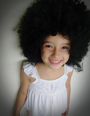 假发横入儿童世界 萌宝发型假发装扮