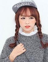 齐刘海搭配发型 气质修颜各种范儿