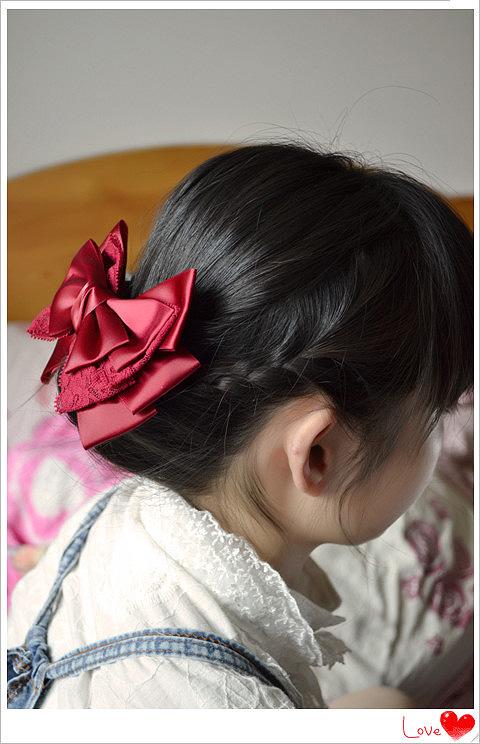 盘发编发融合发型 打造韩式流行女发图片