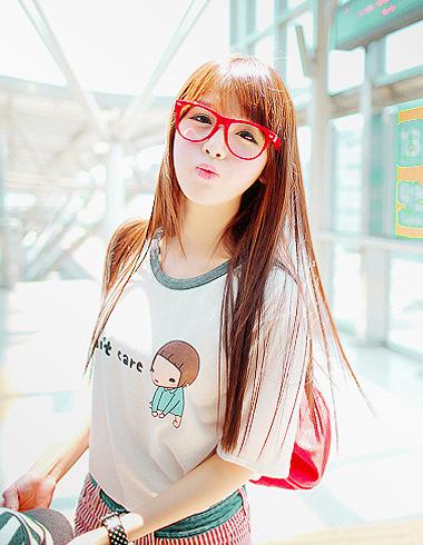空气感刘海发型图片
