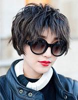 女学生波波头发型 波波头短发卷发发型图片