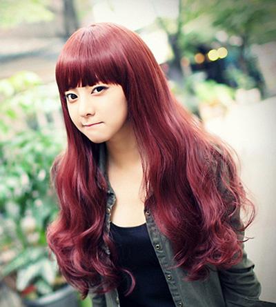 梨花头红色好看吗 红色的梨花头发型图片图片