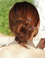 简单高雅盘头发 簪子盘高雅的头发