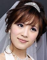 2015最新影楼胖新娘发型 影楼新娘修颜发型