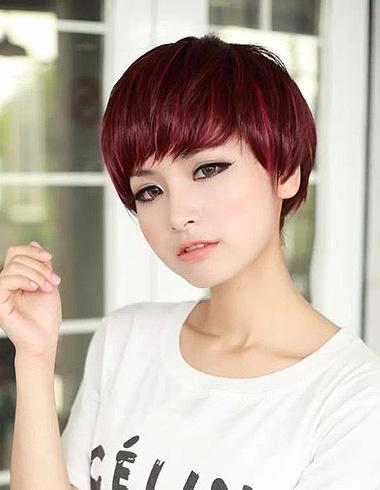 小圆脸2015年最流行短发 小圆脸的发型与颜色图片