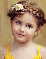 小女孩怎么编长发辫子 欧美风编发小女孩图片