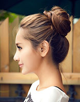 2015年韩式发型和颜色 韩式花苞头的常见发色