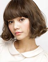 韩式发型短中发 较胖圆脸型韩式发型