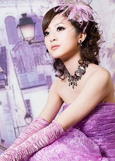 长脸女生适合的新娘发型 长脸新娘盘发发型图片[新娘发型]-新娘发型图