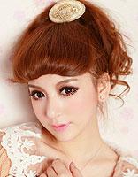 韩式齐刘海发型扎法 齐刘海发型扎发图片