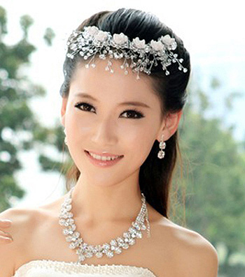 新娘发型图片图片